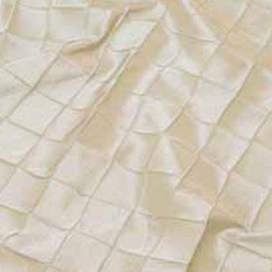 Ivory Pintuck Taffeta Table Linen Rental Tablecloth