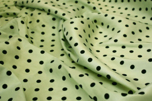 Apple Green Polka Dot Taffeta