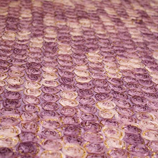 Lavender Rose Garden Taffeta