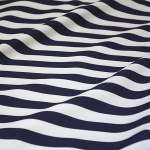 Navy & White Wide Stripe