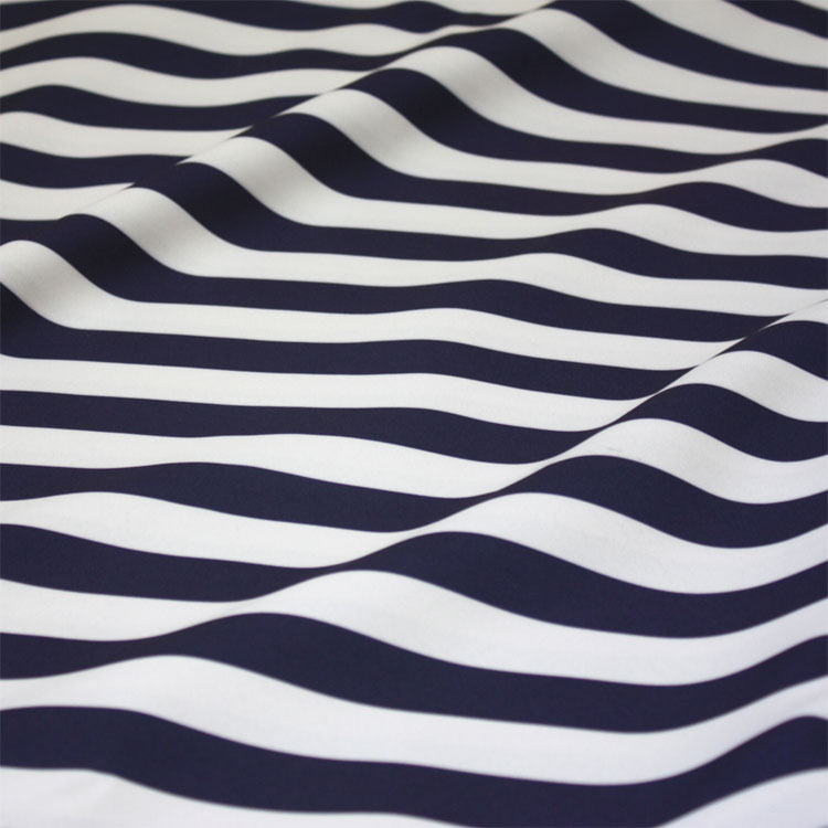 Navy & White Stripe Table Linen Tablecloths - Cloth Connection