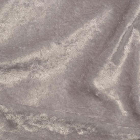 Light Grey Panne Velvet