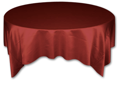 Cranberry Lamour Table Linen