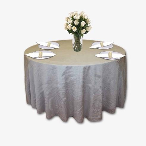 Light Grey Crushed Taffeta Table Linen Rental Tablecloth