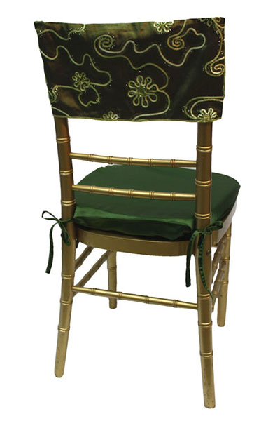 Moss Floral Tinsel Chair Cap