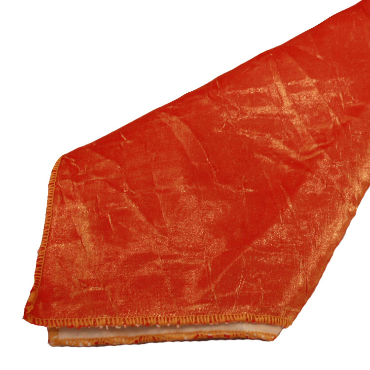 Orange Gold Crushed Shimmer Napkins