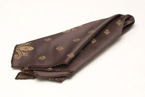Chocolate Fleurdelis Napkins