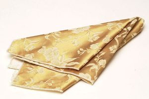 Gold Floral Damask Napkins