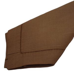 Chocolate Hemstitch Napkins