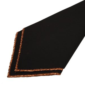 Black with Copper Trim Napkins