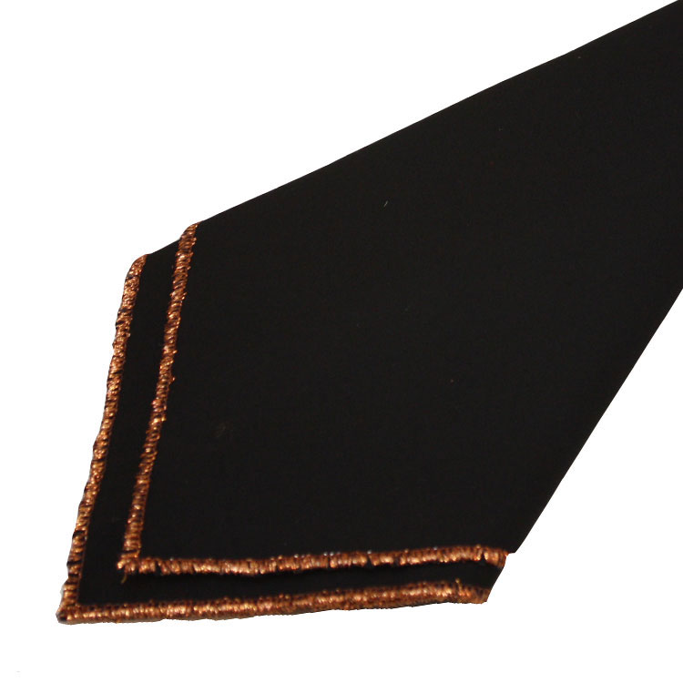 Black with Copper Trim Napkins