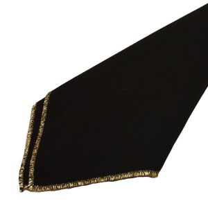Black with Gold Trim Napkins