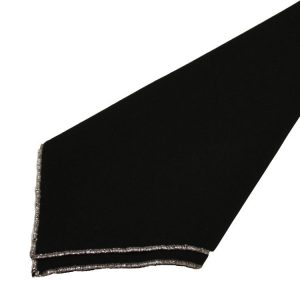 Black with Silver Trim Napkins