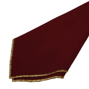 Burgandy with Gold Trim Napkins