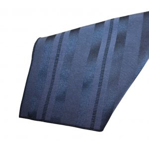 Navy Deco Stripe Napkin