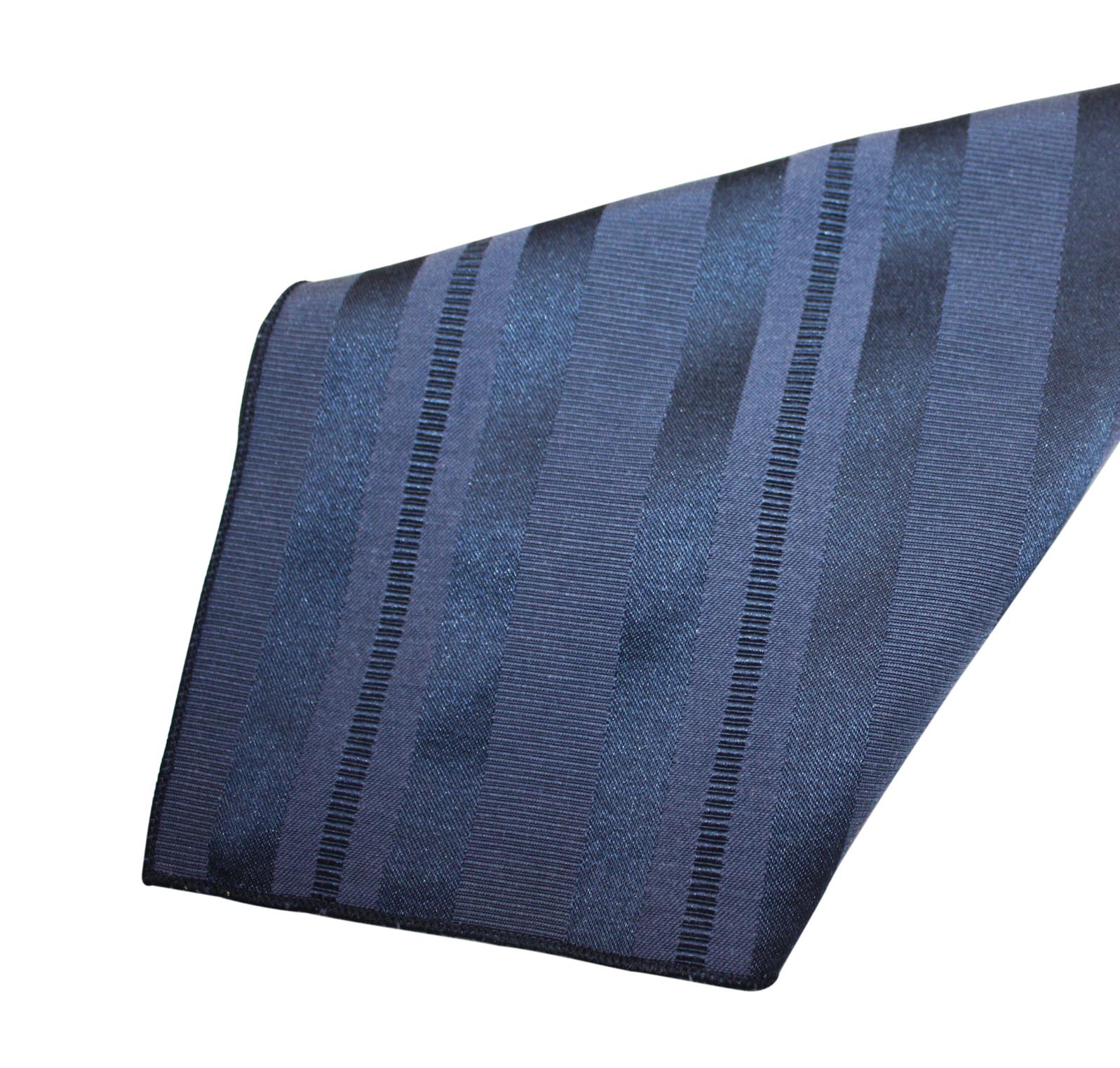 Navy Deco Stripe Napkin