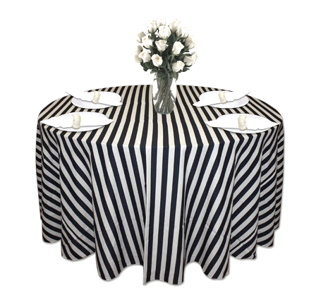 Navy Amp White Stripe Table Linen Tablecloths Cloth Connection