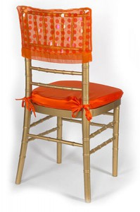 Orange Paylette Chair Cap