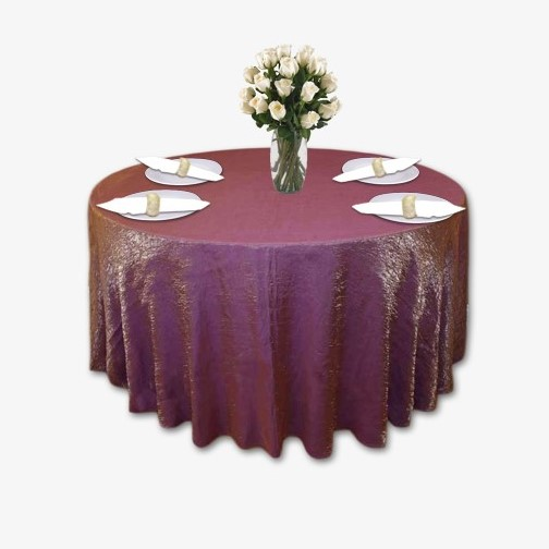 Orchid Gold Crushed Shimmer Table Linen Rental Tablecloth