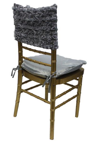 Pewter Rosette Chair Cap