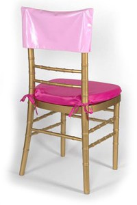 Pink Vinyl Chair Cap
