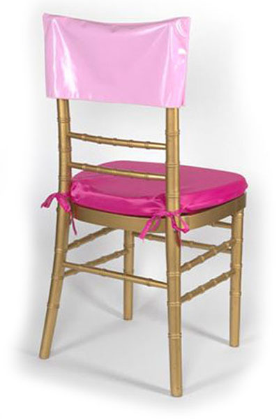 Pink Vinyl Chair Cap