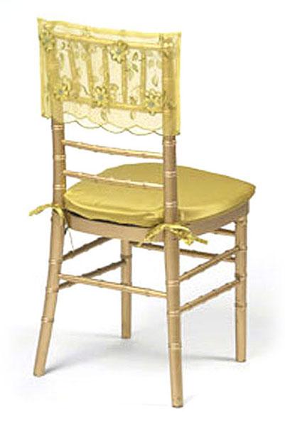 Pistachio Floral Sequin Silk Chair Cap