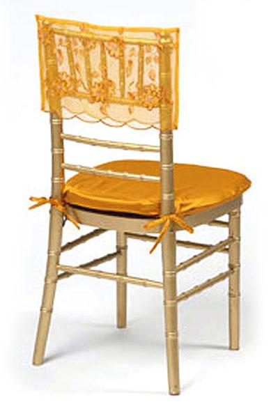 Pumpkin Floral Sequin Silk Chair Cap