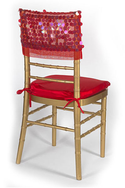 Red Paylette Chair Cap