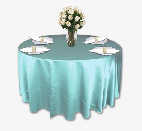 Robin S Egg Blue Lamour Table Linen Rental Tablecloth