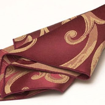 Rust & Gold Swirl Damask Napkin2
