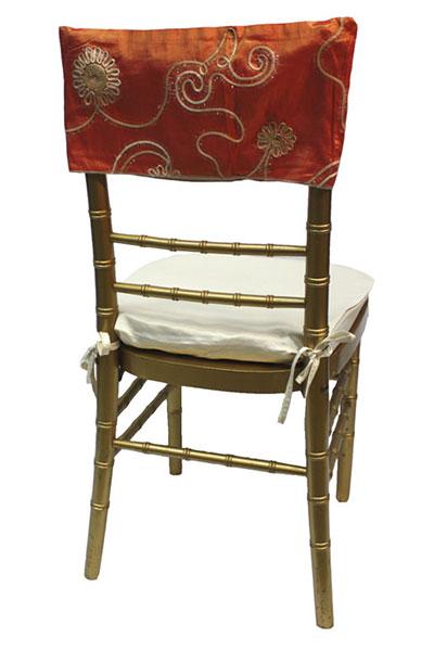 Sunset Floral Tinsel Chair Cap