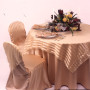 Taupe Lamour Chair Cover