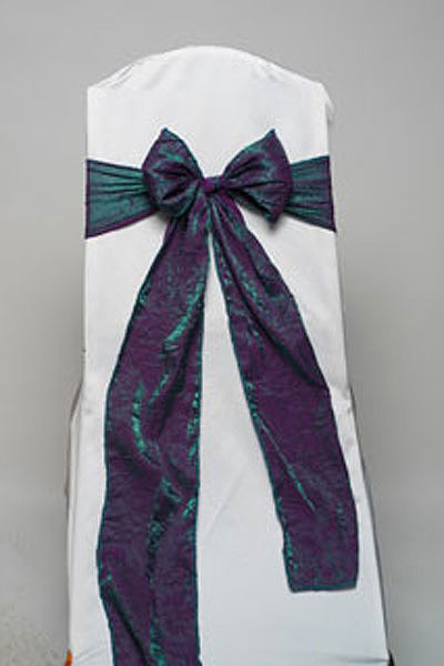 Amethyst Emerald Crushed Shimmer Tie