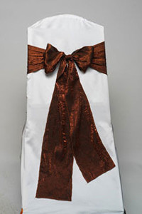 Copper Crushed Shimmer Tie