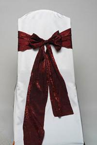 Garnet Crushed Shimmer Tie