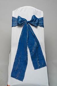 Slate Blue Crushed Shimmer Tie