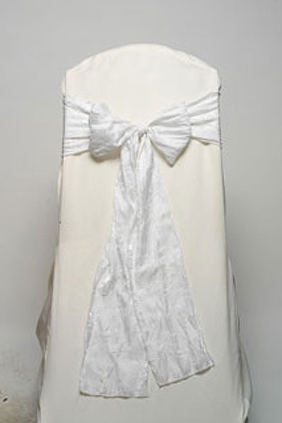 White Crushed Shimmer Tie