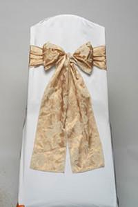 Gold Floral Damask Tie