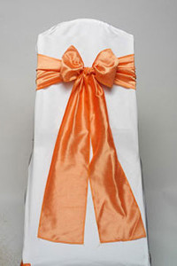 Apricot Iridescent Taffeta Tie