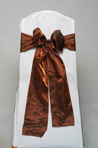 Copper Iridescent Satin Tie