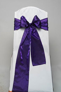 Purple Iridescent Satin Tie