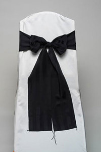 Black Imperial Stripe Tie