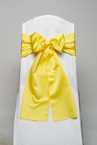 Bright Yellow Lamour Tie