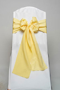 Pale Yellow Lamour Tie