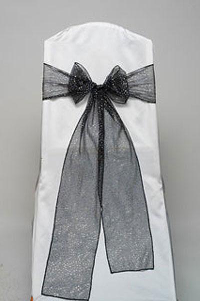 Black Glitter Net Tie