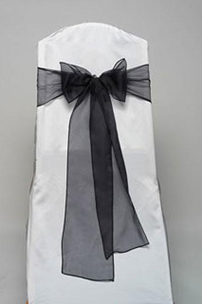 Black Organdy Tie