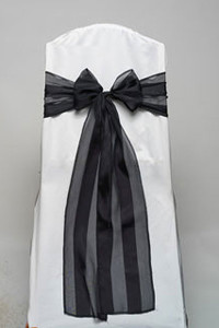 Black Regal Stripe Tie
