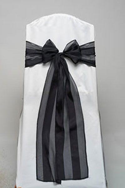Black Regal Stripe Tie