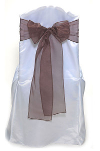 Chocolate Organdy Tie